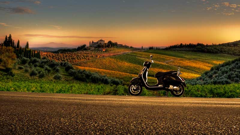vespa wine tours in chianti classico and tuscany